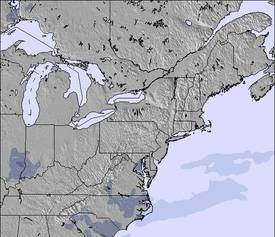Mapa de Nieve de Appalachians and Great Lakes (3 Días)