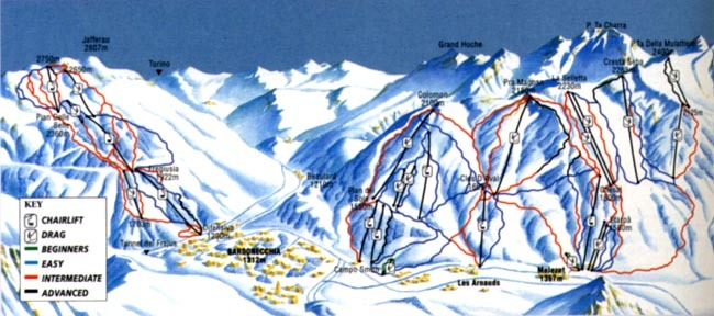 Bardonecchia Piste / Trail Map