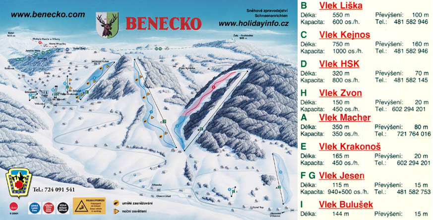 Herlikovice Piste / Trail Map