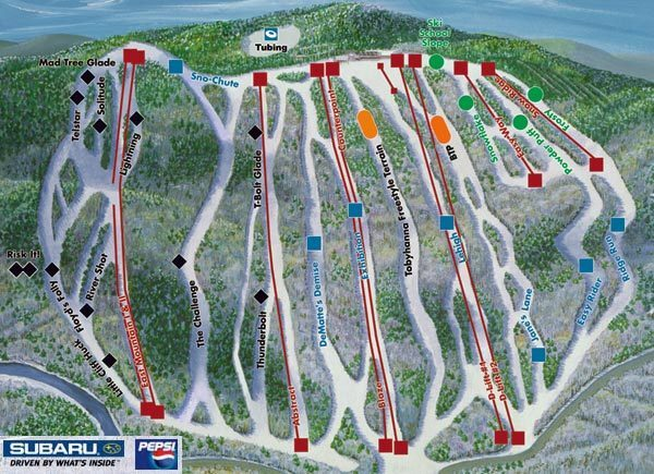 Big Boulder Piste / Trail Map