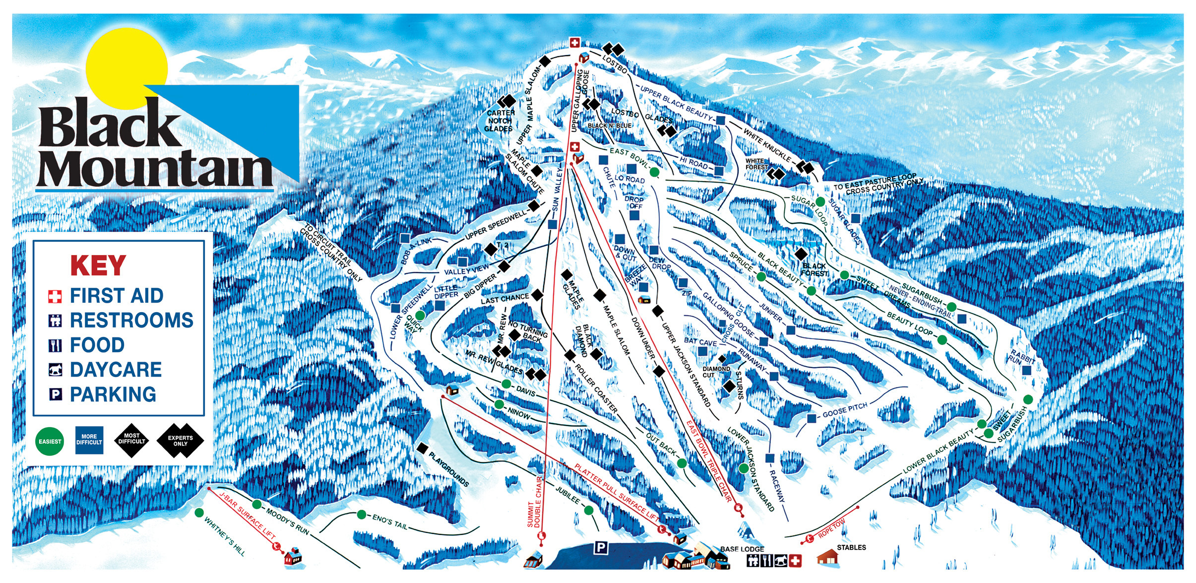 Black Mountain Piste / Trail Map