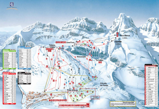 Candanchu Piste / Trail Map