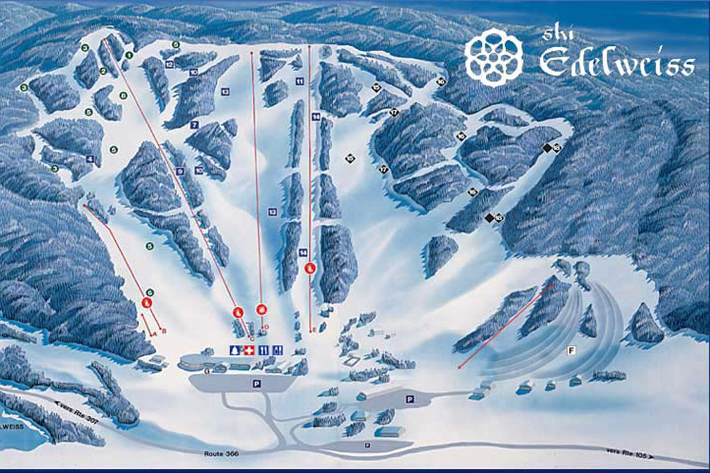 Edelweiss Valley Piste / Trail Map