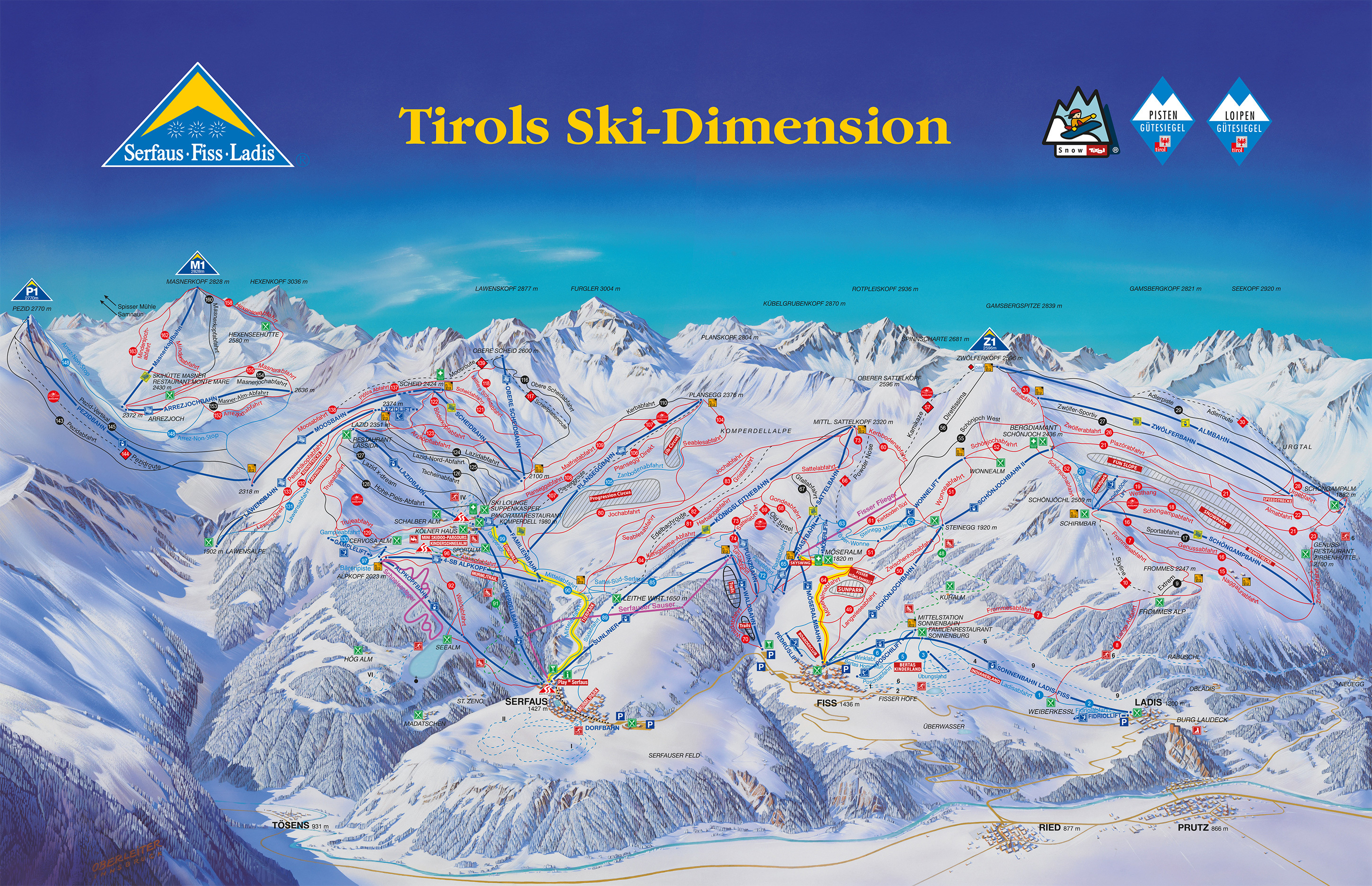 Fiss Piste / Trail Map