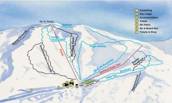 Hanmer Piste / Trail Map