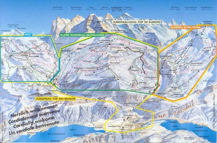 Interlaken Piste / Trail Map