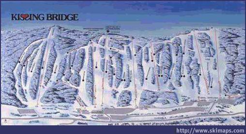 Kissing Bridge Piste / Trail Map