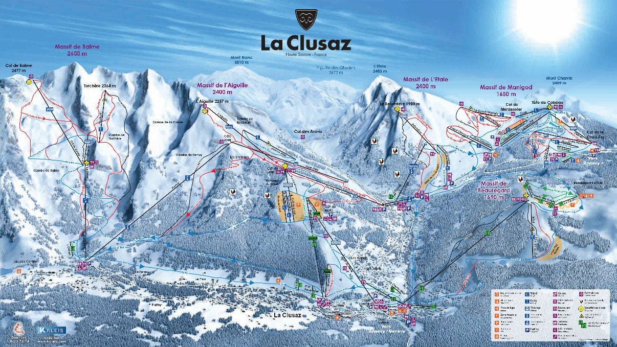 La Clusaz Piste / Trail Map