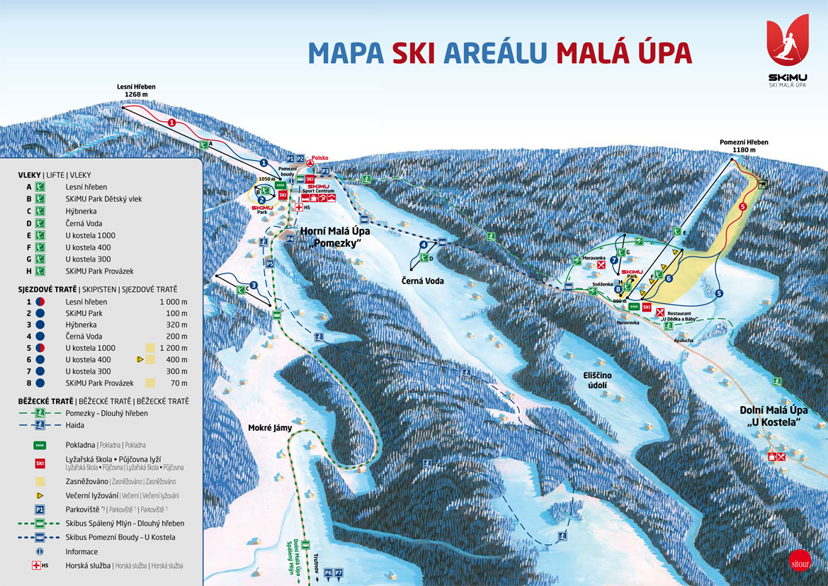 Malá Úpa Piste / Trail Map