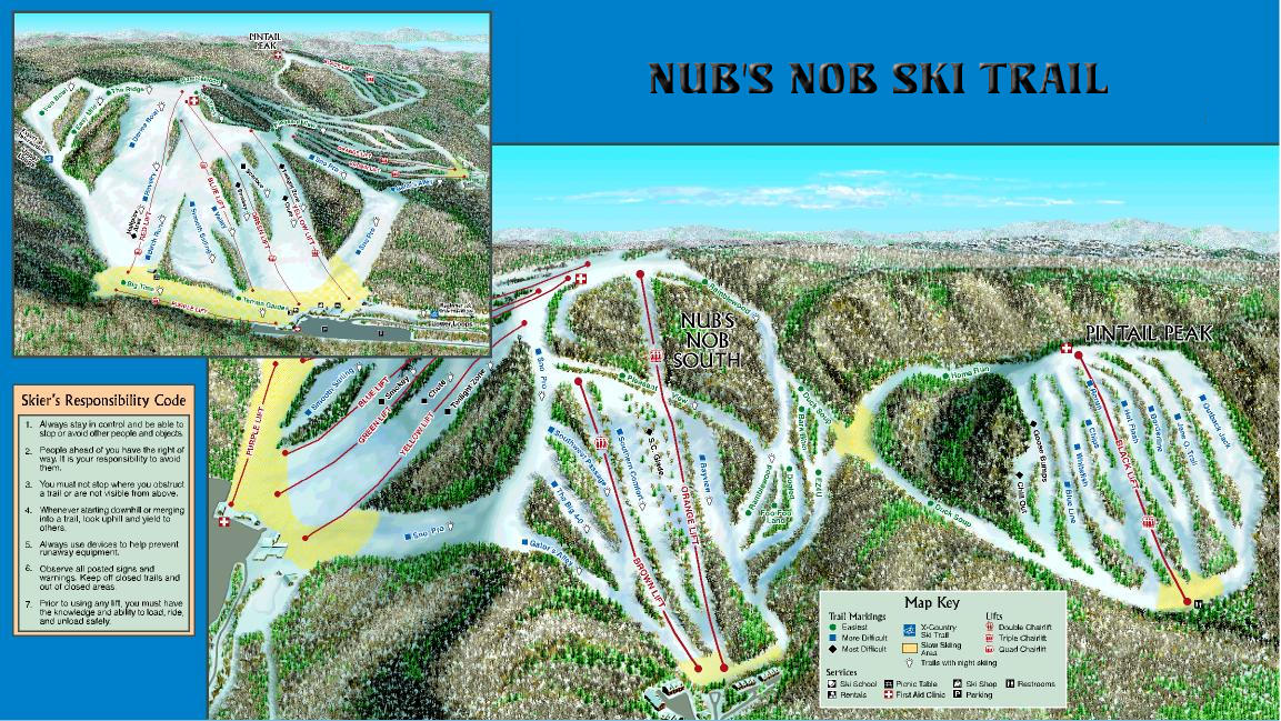 Nubs Nob SA Piste / Trail Map