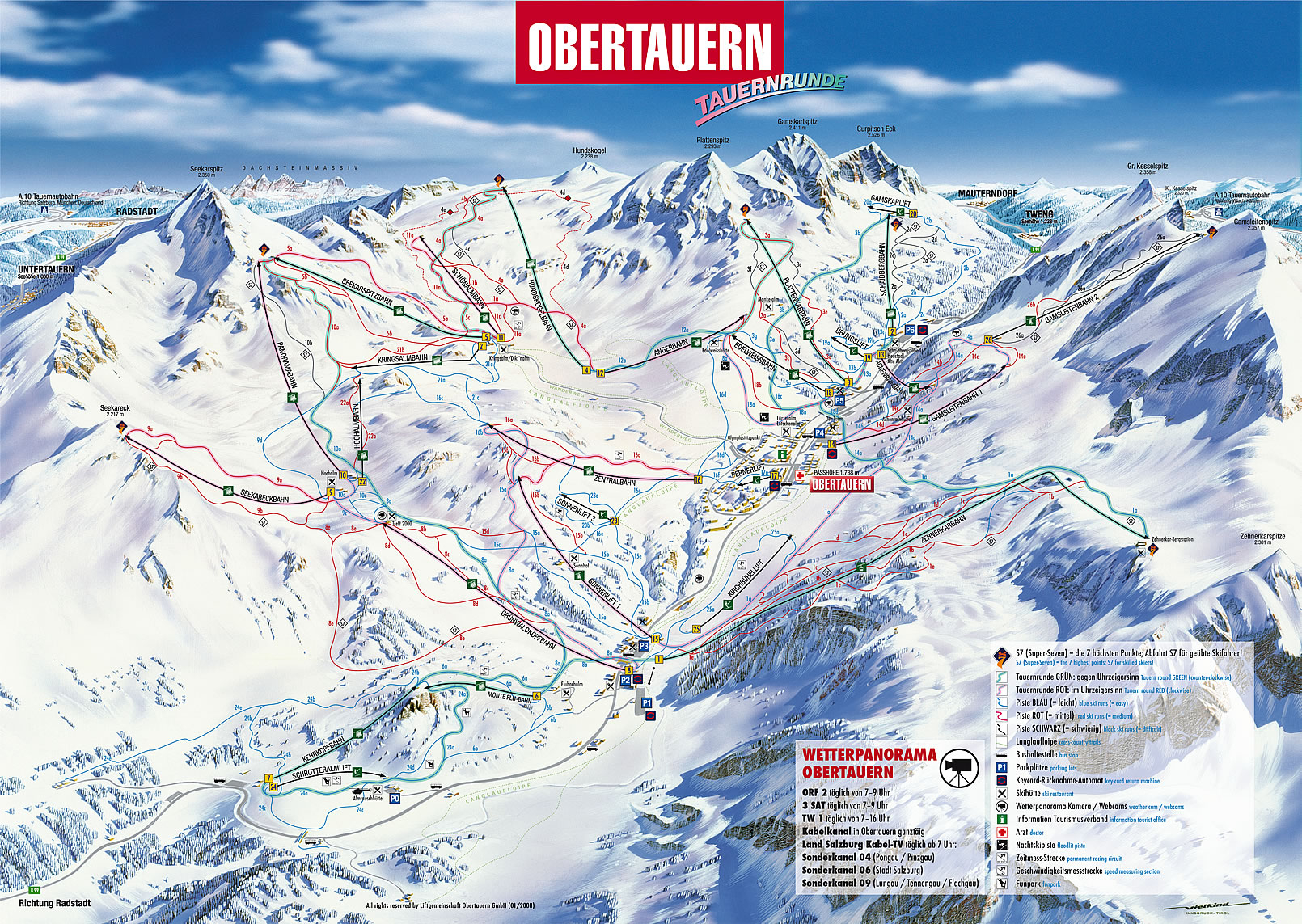 Obertauern Piste / Trail Map