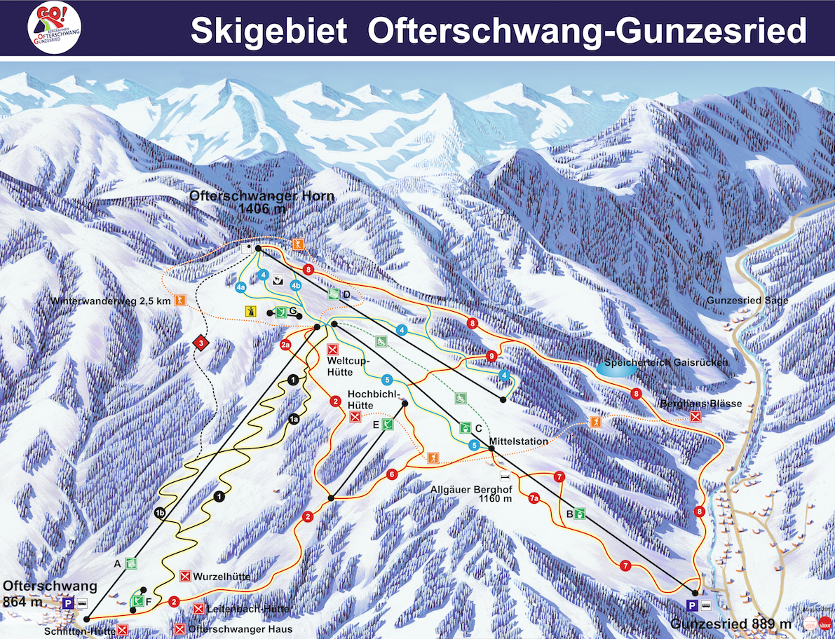 Ofterschwang-Gunzesried Piste / Trail Map