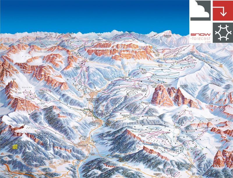 Santa Cristina Piste / Trail Map