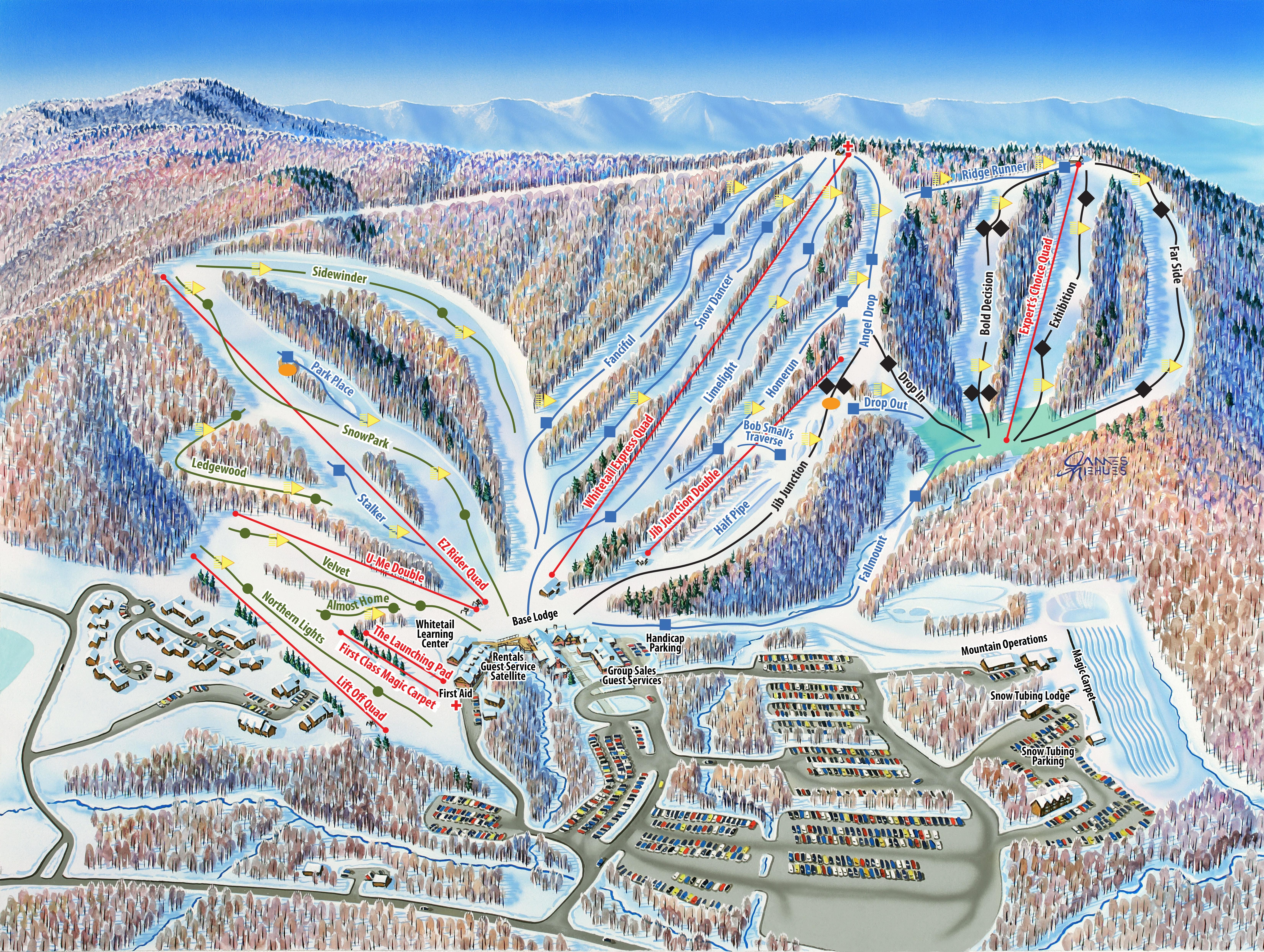 Whitetail Resort Piste / Trail Map