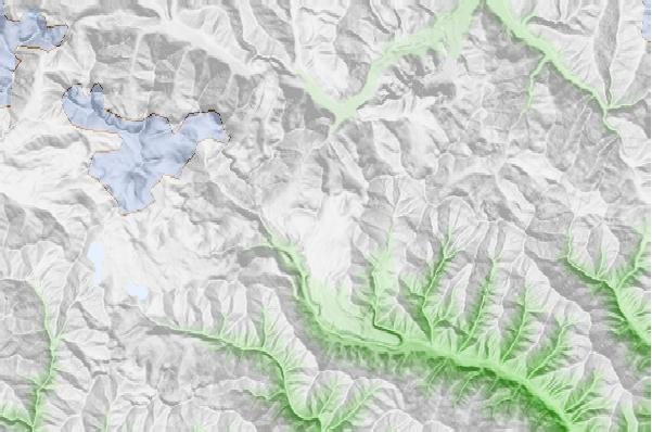 Gudauri neighbourhood basemap