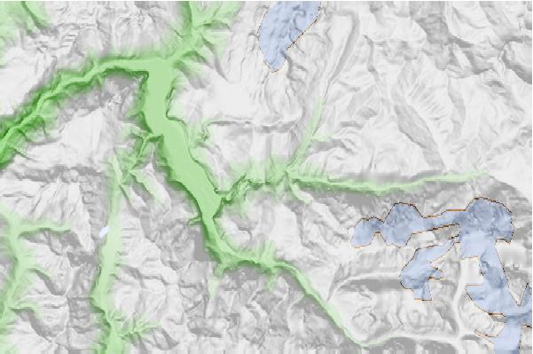 Les Deux Alpes neighbourhood basemap