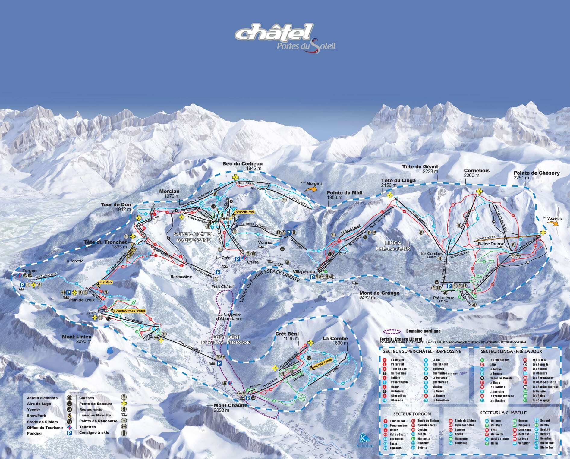 Chatel Piste / Trail Map