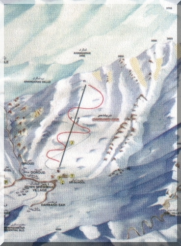 Darbandsar Piste / Trail Map