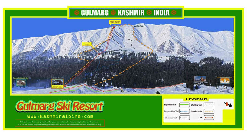 Gulmarg Piste / Trail Map