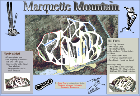 Marquette Mountain Piste / Trail Map