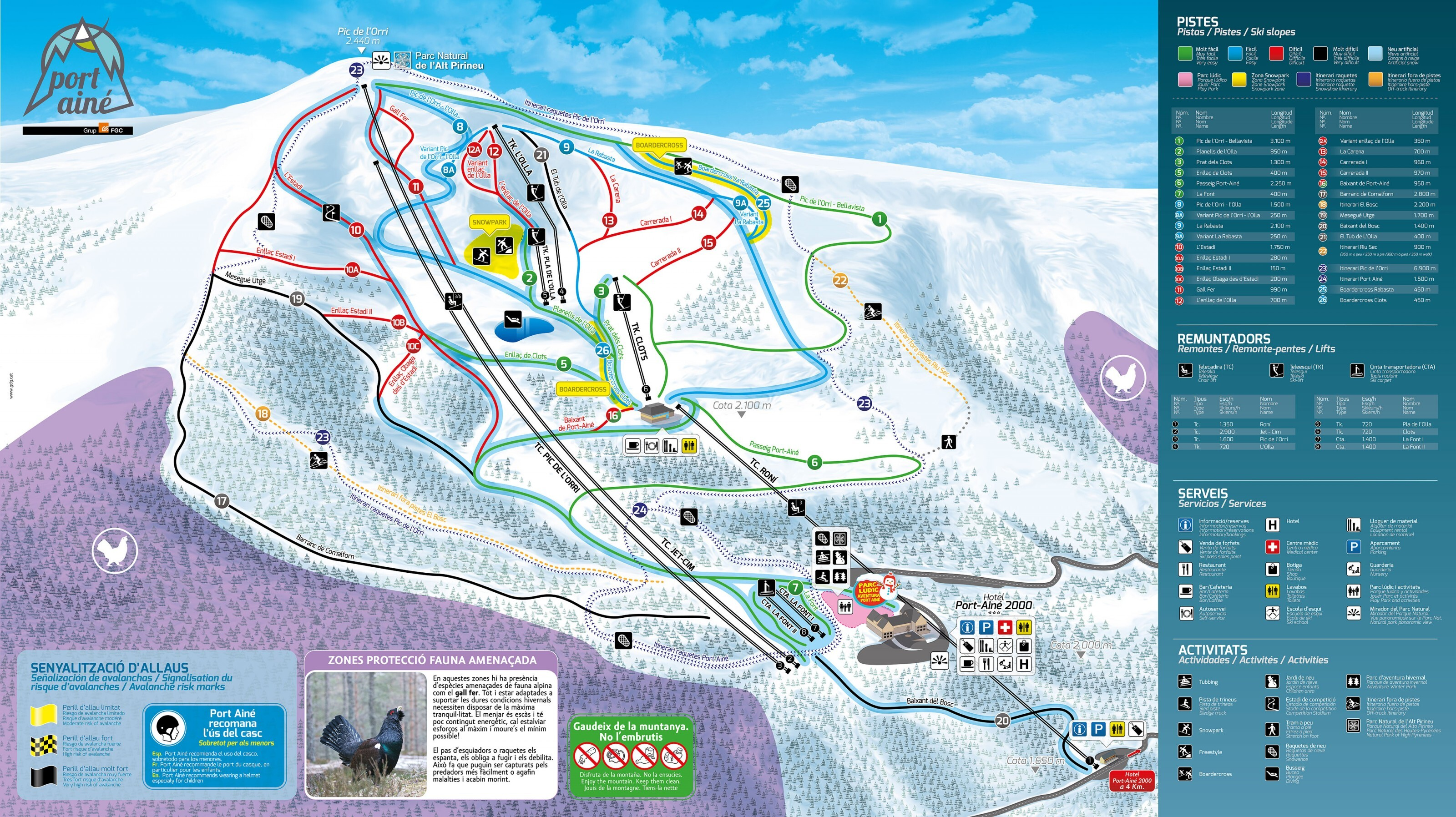 Port-Ainé Piste / Trail Map