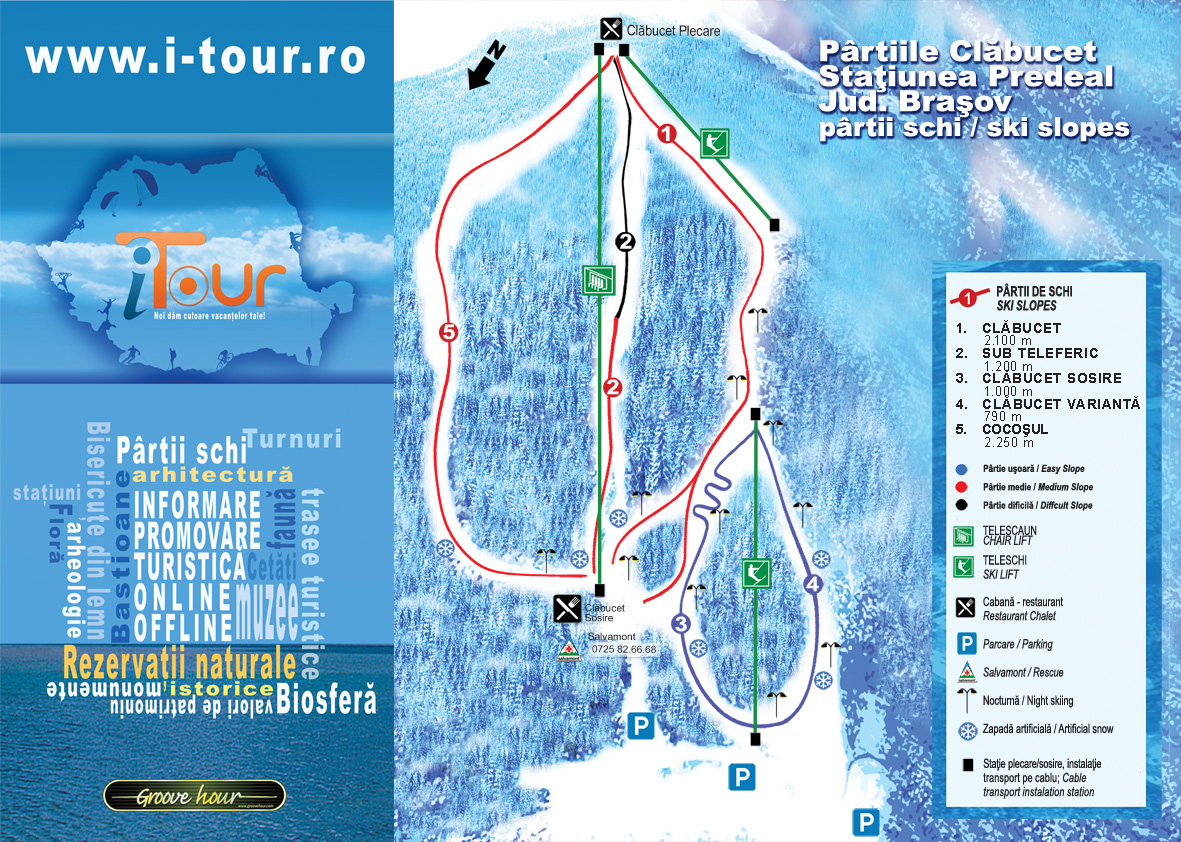 Predeal Piste / Trail Map