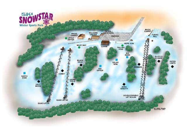 Ski Snowstar Piste / Trail Map