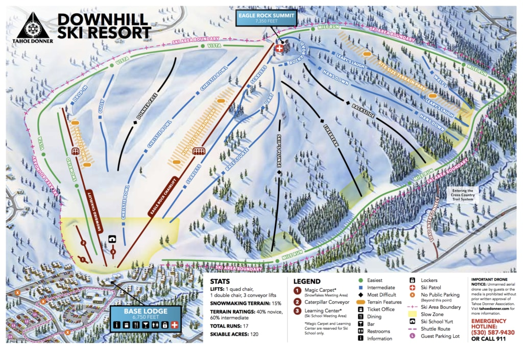 Tahoe Donner Piste / Trail Map