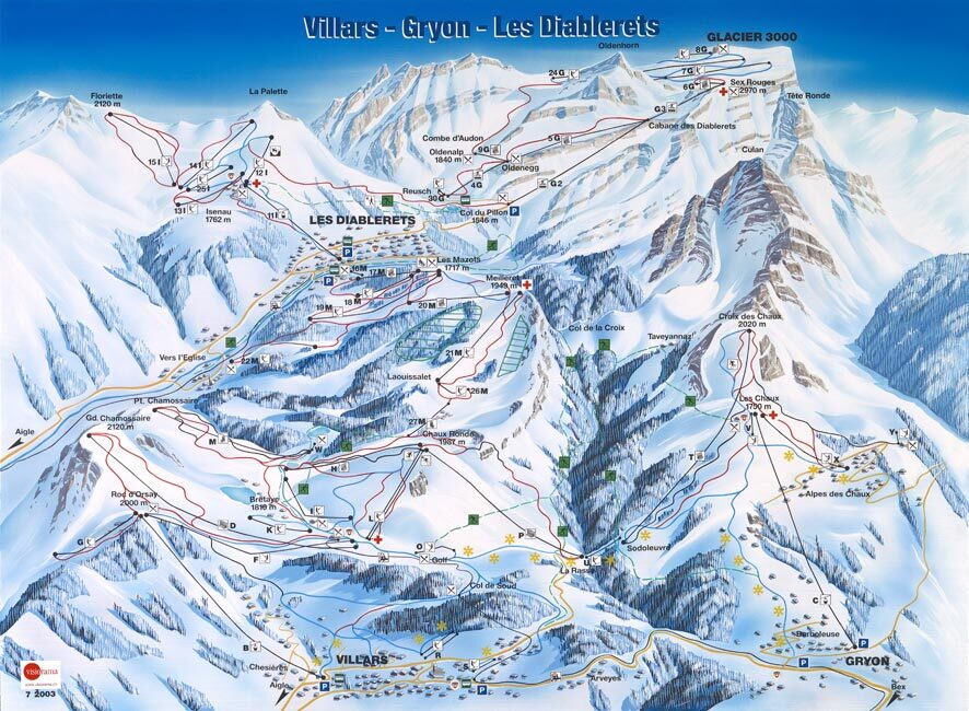 Villars Piste / Trail Map