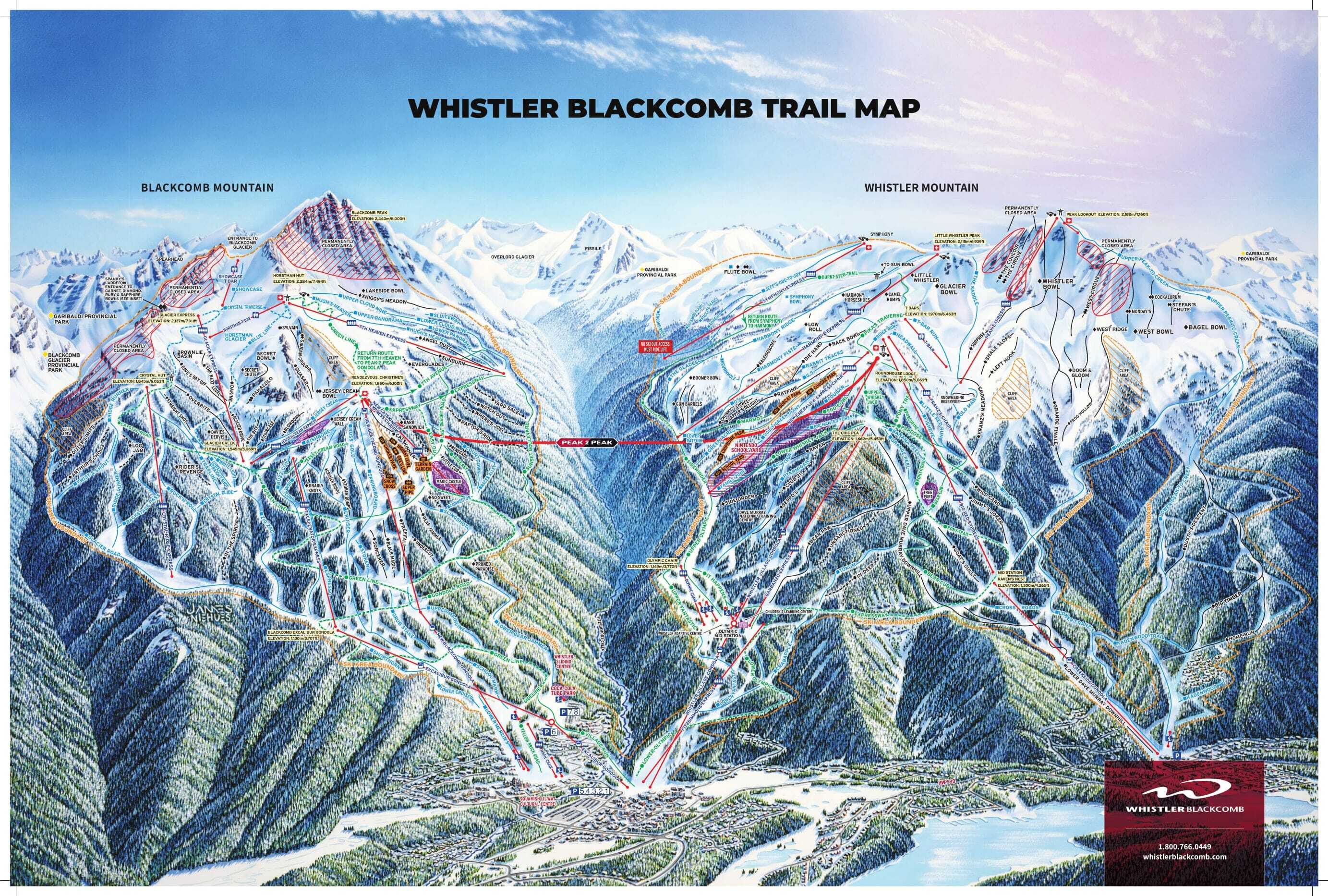 Whistler Blackcomb Piste / Trail Map
