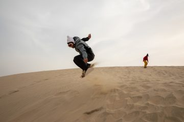 Snowboarders Can Make Up for a Missed Winter By Riding Sand Dunes in Qatar